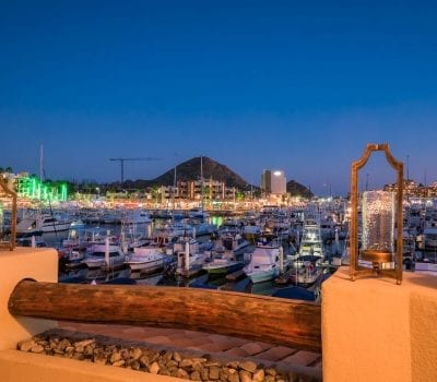 Cabo Marina Patio Views at Night!