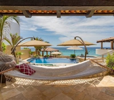 hammock outside of a Cabo vacation rental